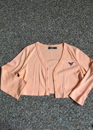 Оранжевая болеро кофта mexx