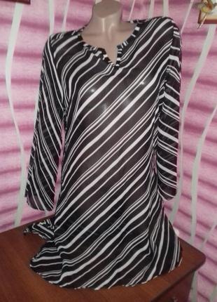 Блуза -туника (можно использовать и как для пляжа)
