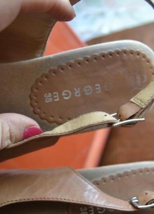 Нарядные george босоножки на каблуке и танкетке кожа в ресторан