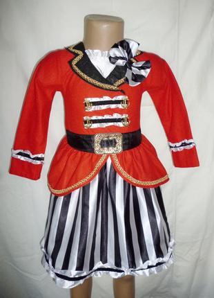 Платье пиратки,разбойницы на 3-4 года