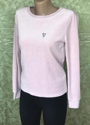Rose нежнейшая блузка кофта разлетайка victoria's secret велюр оригинал  xs