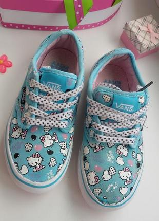 Мятные кеды vans hello kitty 19,5 см.ванс