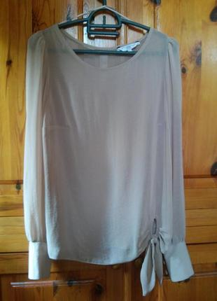 Бежевая блуза new look