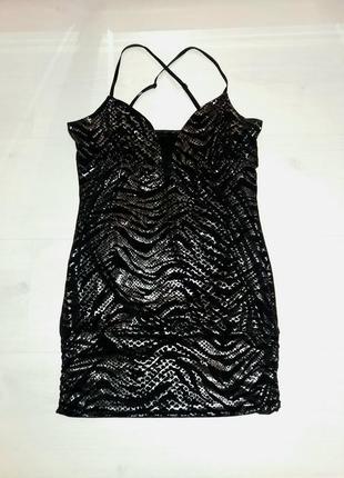 Платье туника блестящее коктельное вечернее