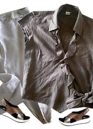 Блуза лен размер 46-48