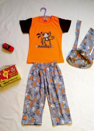 Крутой летний костюм на мальчика размер 2-3 годика