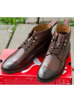 Кожаные ботинки napapijri brook 41-42р. 27-27,3 см.