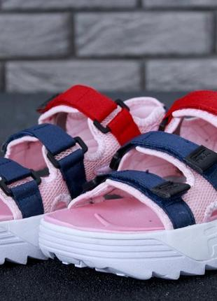 Розовые женские сандали шлепанцы 36 37 38 39 40 рр