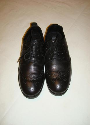Туфли броги\оксфорды кожаные р.37-37.5
