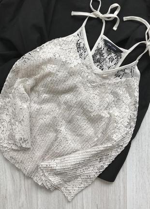 Кружевная блуза /топ new look
