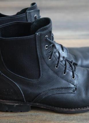 Фирменные кожаные ботинки timberland
