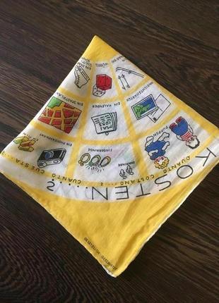 Батистовый носовой платок  винтаж  шов рауль  gesetzlich geschützt