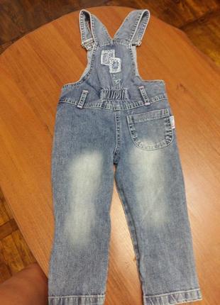 Крутой джинсовый комбинезон для девочки2