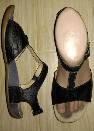 Босоножки сандалии clarks 5 d eur 38 кожа