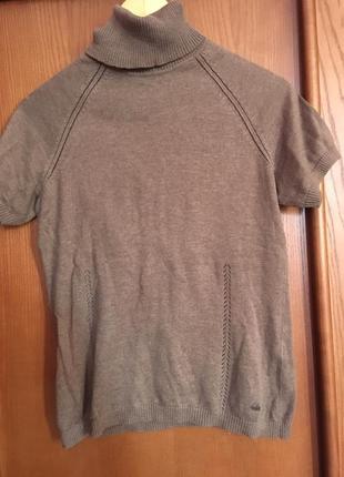 Тёплая футболка / гольф с короткими рукавами