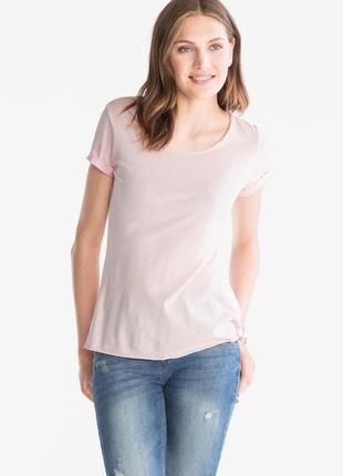 Базовая футболка с&a размер xs светлая модал хлопок стильная хлопковая розовая нюд