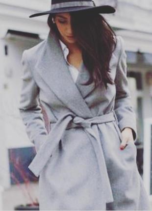 Пальто халат на запах,шерстяное пальто,пальто оверсайз