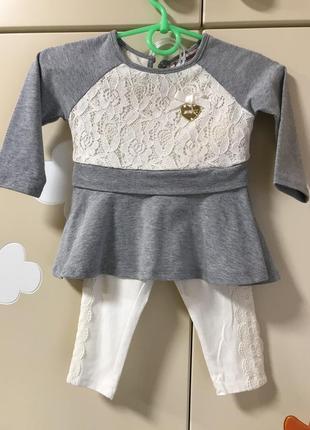 Нарядный костюм для девочки juicy couture на 12 мес