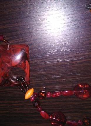 Бусы ожерелье в этническом стиле бохо