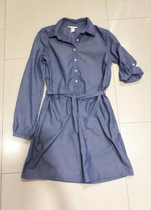 Хитовое джинсовое платье, рубашка, платье-рубашка, деним