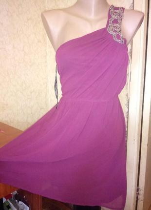 Вечернее  платье на одно плечо 6