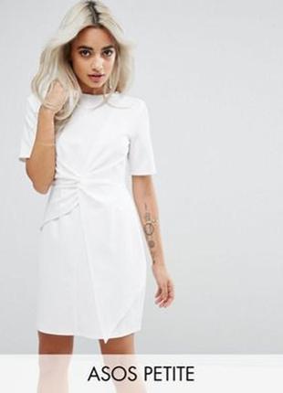 Короткое приталенное платье asos petite