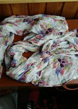 Шарф шарфик череп черепа цветы весенний