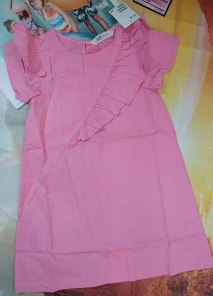 Бавовняна сукня з воланами від бренду h&m! 92-140см, є розміри, з німеччини!
