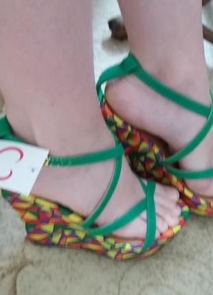 Босоножки туфли на платформе, танкетке женские