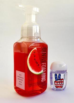 """Комплект: мыло-пенка """"watermelon lemonade"""" и карманный антисептик для рук"""
