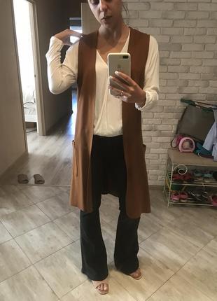 Комплект джинсы рубашка жилет