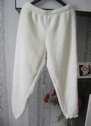 Теплые меховые домашние штаны пижама брюки батал ххх-ххххл 52-54