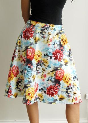 Летняя хлопковая юбка