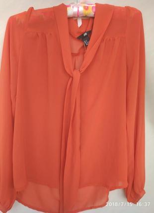 Стильная морковная блуза h&m