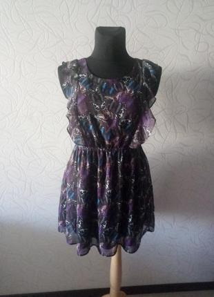 Нежное шифоновое платье в бабочках от jbc