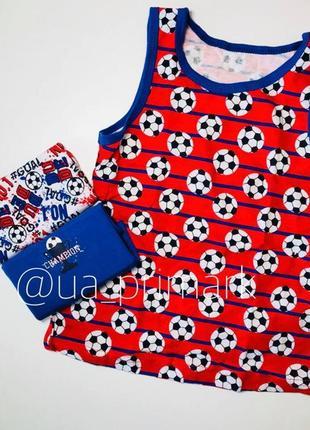Майки примарк 3 шт для мальчика футбольная тематика (1.5-15 лет) рrimark