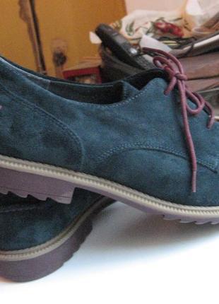 Туфли мокасины лоферы оксфорды новые clarks оригинал замша размер 41 по стельке 26 см