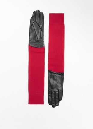 Кожаные перчатки & other stories m 100% кожа шелк шерсть