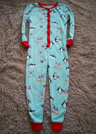 Человечек,слип, пижама, кигуруми george,7-8 лет.
