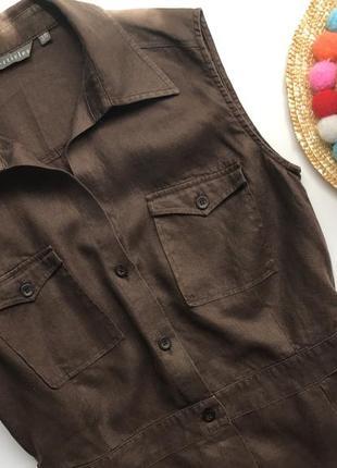 Тренд сезону лляна блуза сорочка блузка футболка ллянная