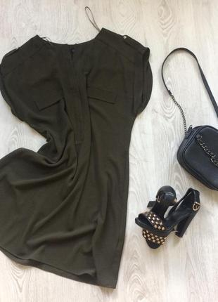 Плаття туніка кольору хакі