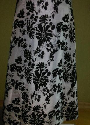 Шелковая юбка с цветами из бархата