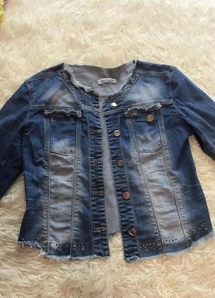 Оболденный джинсовый пиджак