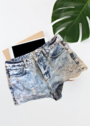 Актуальные джинсовые шорты высокая посадка завышенная талия(1+1=3)