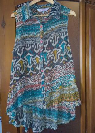 Оригинальная удлиненная блуза boohoo р. l-xl в отличном состоянии