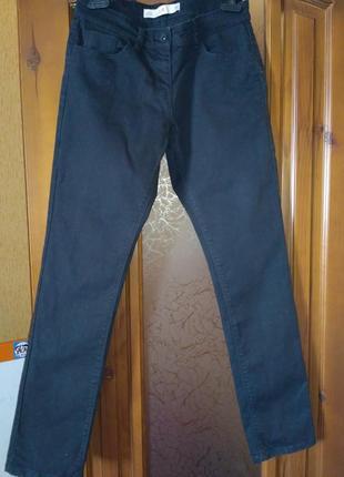 Плотные джинсы черного цвета next jeans slim р.12/40 в отличном состоянии
