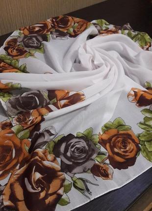 😊нежнейший легчайший платок шёлк хлопок качество изумительное