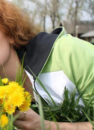 Женский спортивный прогулочный костюм oxygen s 42 черно-зеленый