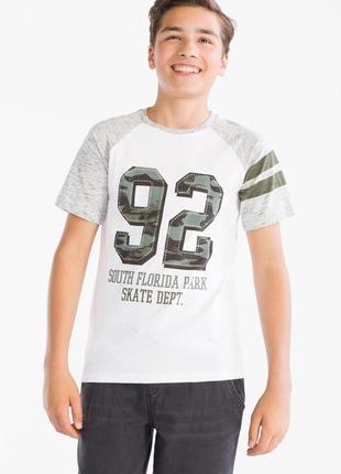 Классная хлопковая футболка с сайта c&a по цене распродажи, 158-164 размер
