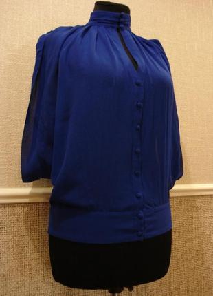 Шелковая шифоновая блузка летняя кофточка